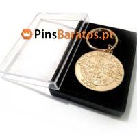 Fabricantes de porta chaves promocionais em ouro matt