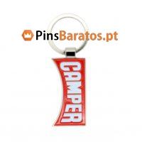 Porta chaves promocionais com logotipo Camper
