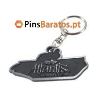 Porta chaves promocionais com logotipo Barco prateado antigo
