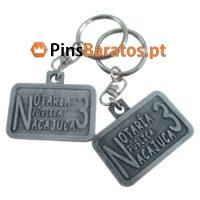 Porta chaves promocionais com logotipo Notaría