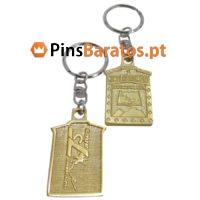 Porta chaves promocionais com logotipo 75 anos