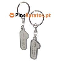 Porta chaves promocionais com logotipo em prata