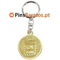 Porta chaves promocionais em ouro Nicolas Romero