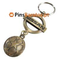 Porta chaves personalizados com logotipo Uefa Nissan em ouro