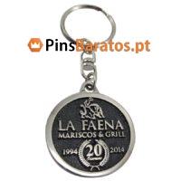 Porta chaves personalizados com logotipo La Faena