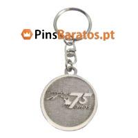 Porta chaves personalizados com logotipo 75 años
