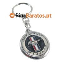 Porta chaves personalizados com logotipo Anniversary