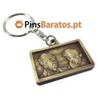 Porta chaves personalizados em ouro antigo