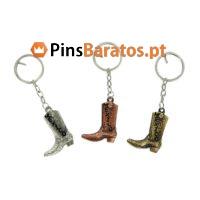 Porta chaves personalizados promocionais Bota