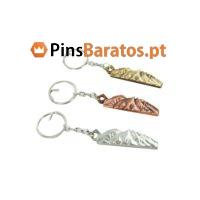 Porta chaves personalizados promocionais em ouro, bronze e prata