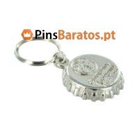 Porta chaves personalizados promocionais em prata