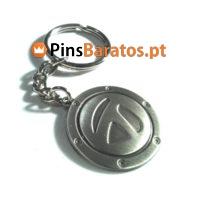 Porta chaves personalizados em prata