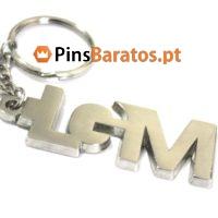 Porta chaves personalizados com logotipo em prata