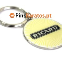Porta chaves personalizados com logotipo redondo