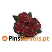 Pins promocionais de rosa