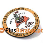 Pins promocionais Moto Club El Foro