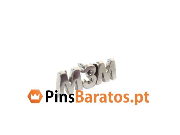 Pins promocionais em prata M3M