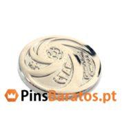 Fabricantes de pins personalizados em cor prata CFAB