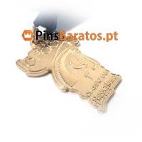 Medalhas personalizadas em ouro