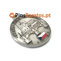 Medalhas personalizadas em prata antiga