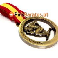 Medalhas personalizadas de Prémios de torneios e competições de Body Building em ouro antigo