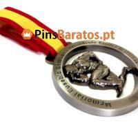 Medalhas personalizadas de Prémios de torneios e competições de Body Building em prata antiga