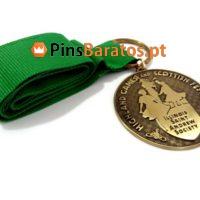 Medalhas personalizadas em ouro antigo