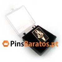 Caixinha de plastico para pins personalizados