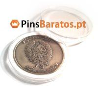 Fabricantes de moedas personalizadas com caixa.