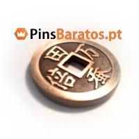 Fabricantes de moedas personalizadas com caixa e cor dourado.